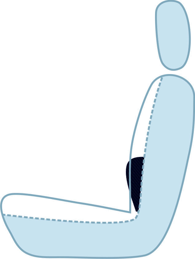 CARPad placed to car seat