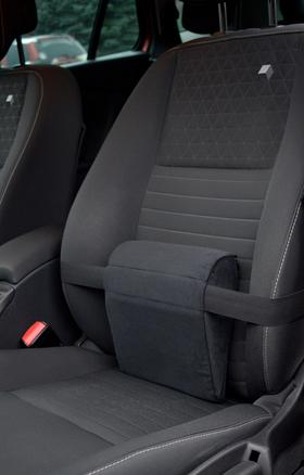 Car seat cushion CarPad in Renault Megane seat.